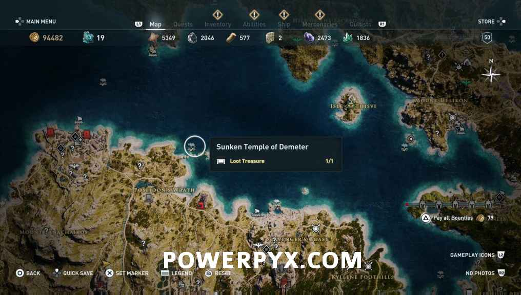 Assassins Creed Odyssey All Underwater Locations