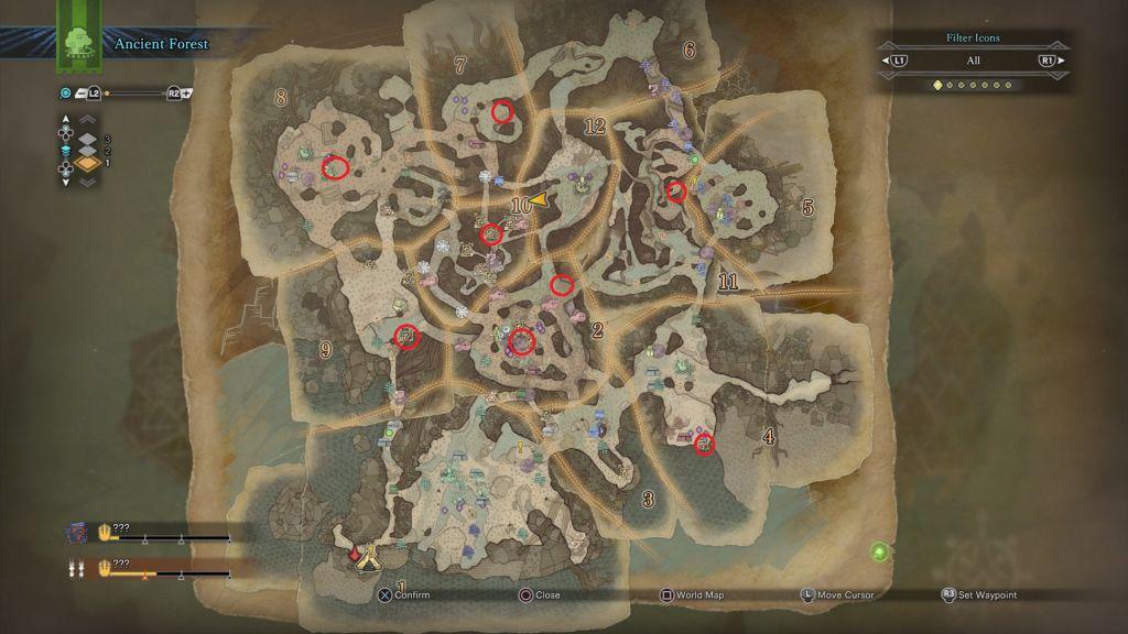 monster hunter world map size