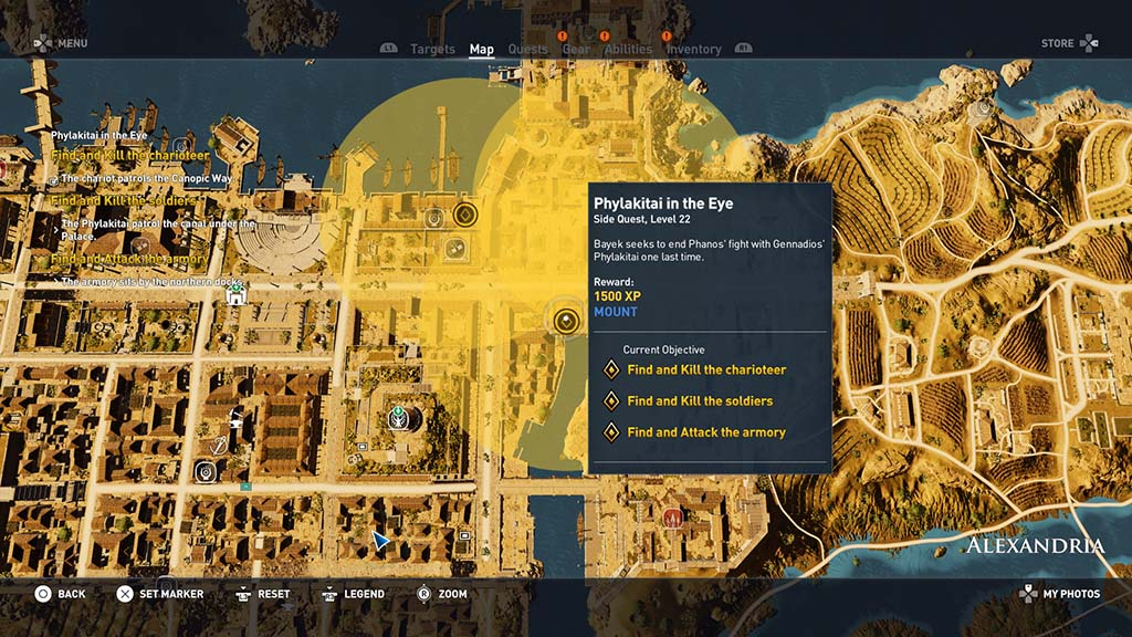 Assassin S Creed Origins Phylakitai In The Eye Side Quest Walkthrough
