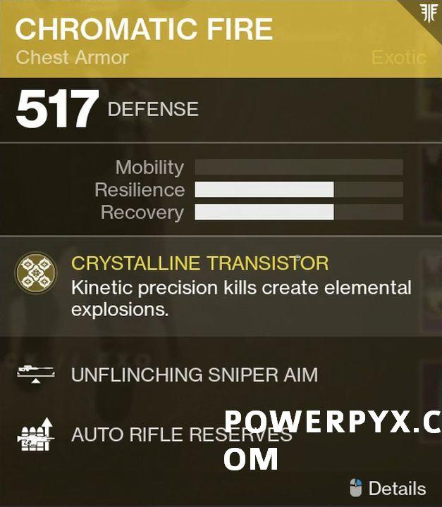 Destiny 2 Forsaken Exotic: Chromatic Fire (Warlock Chest Armor)