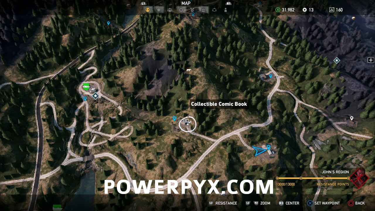 far cry 5 comic book locations