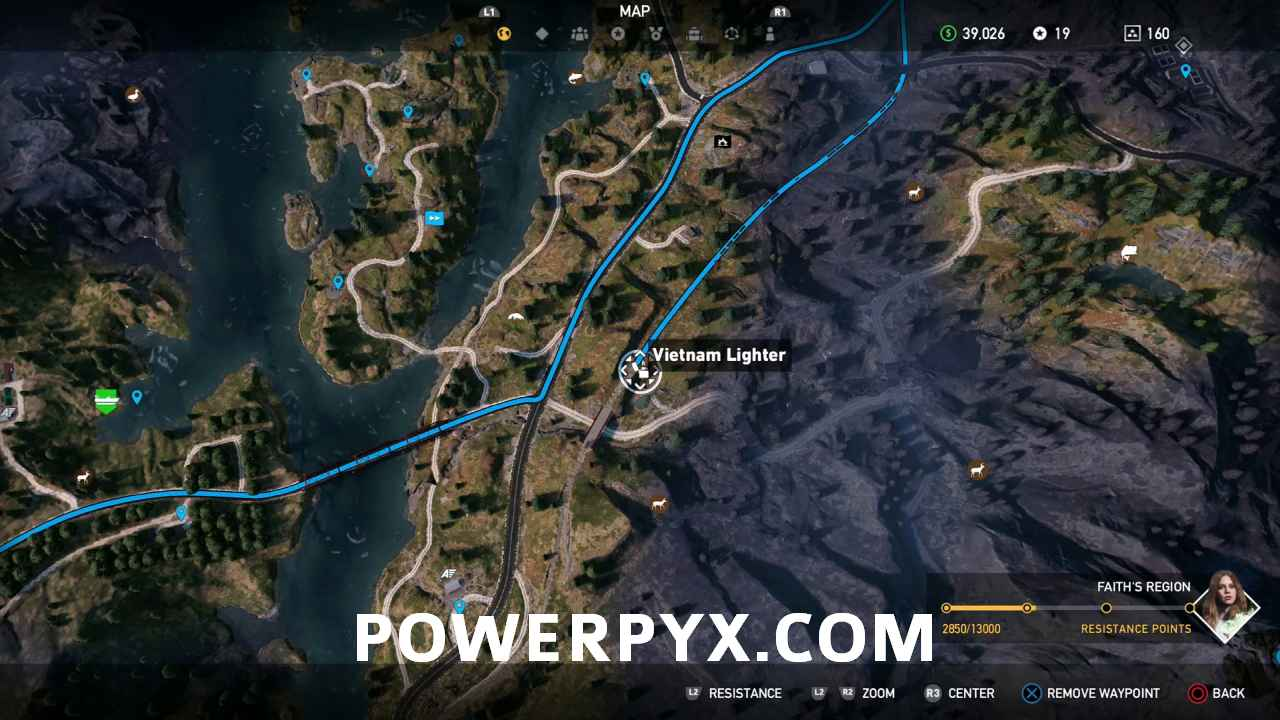 far cry 5 lighters map