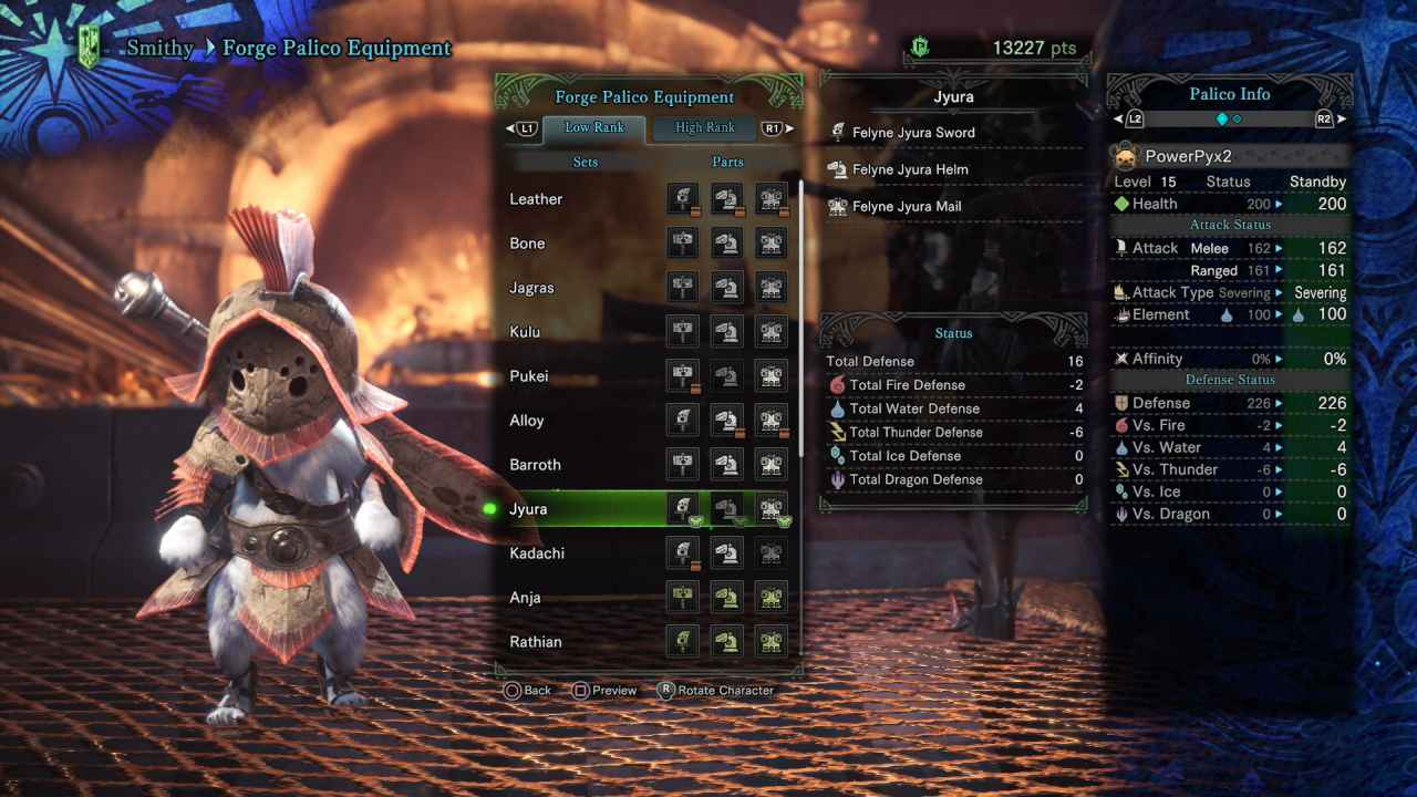 Monster Hunter World All Palico Armor Sets Outfits