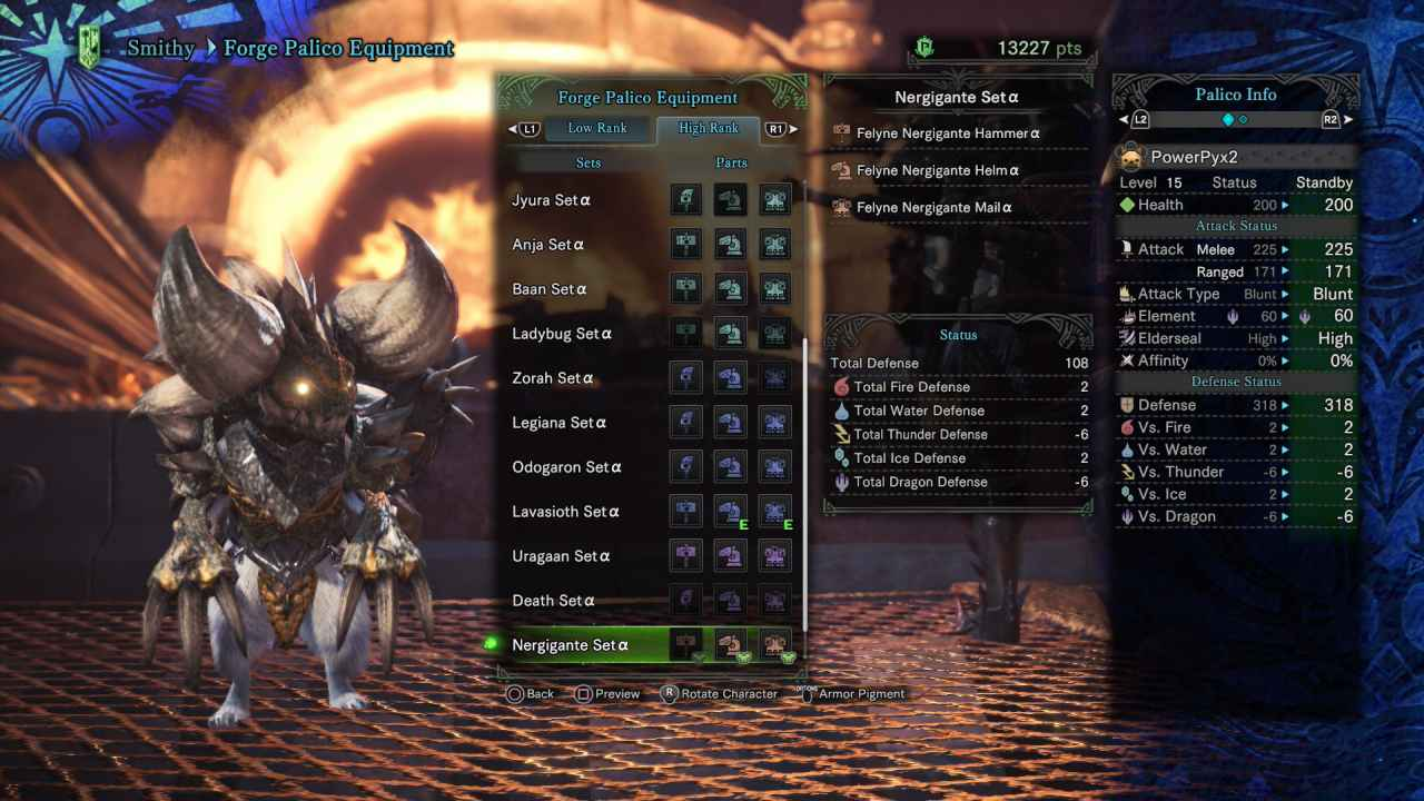 Monster Hunter World: All Palico Armor Sets & Outfits