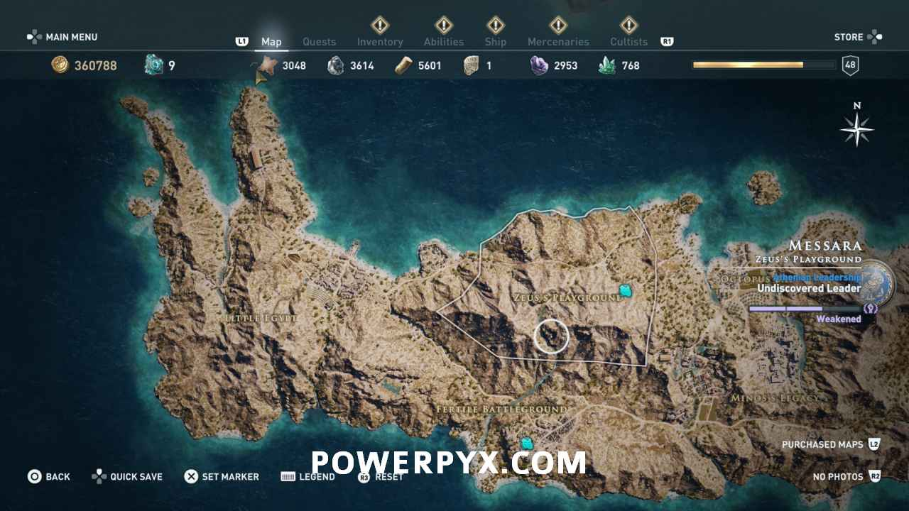 Assassin S Creed Odyssey Ancient Tablet Locations Map