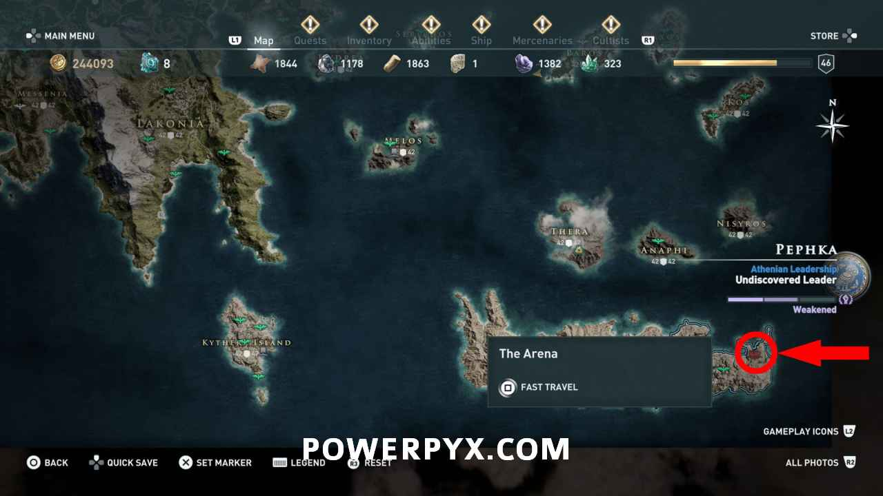 Assassin S Creed Odyssey Where To Find Arena Location