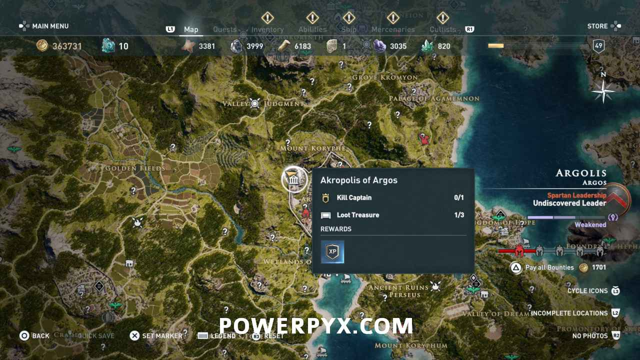 Assassin's Creed Odyssey Legendary Armor Sets Locations