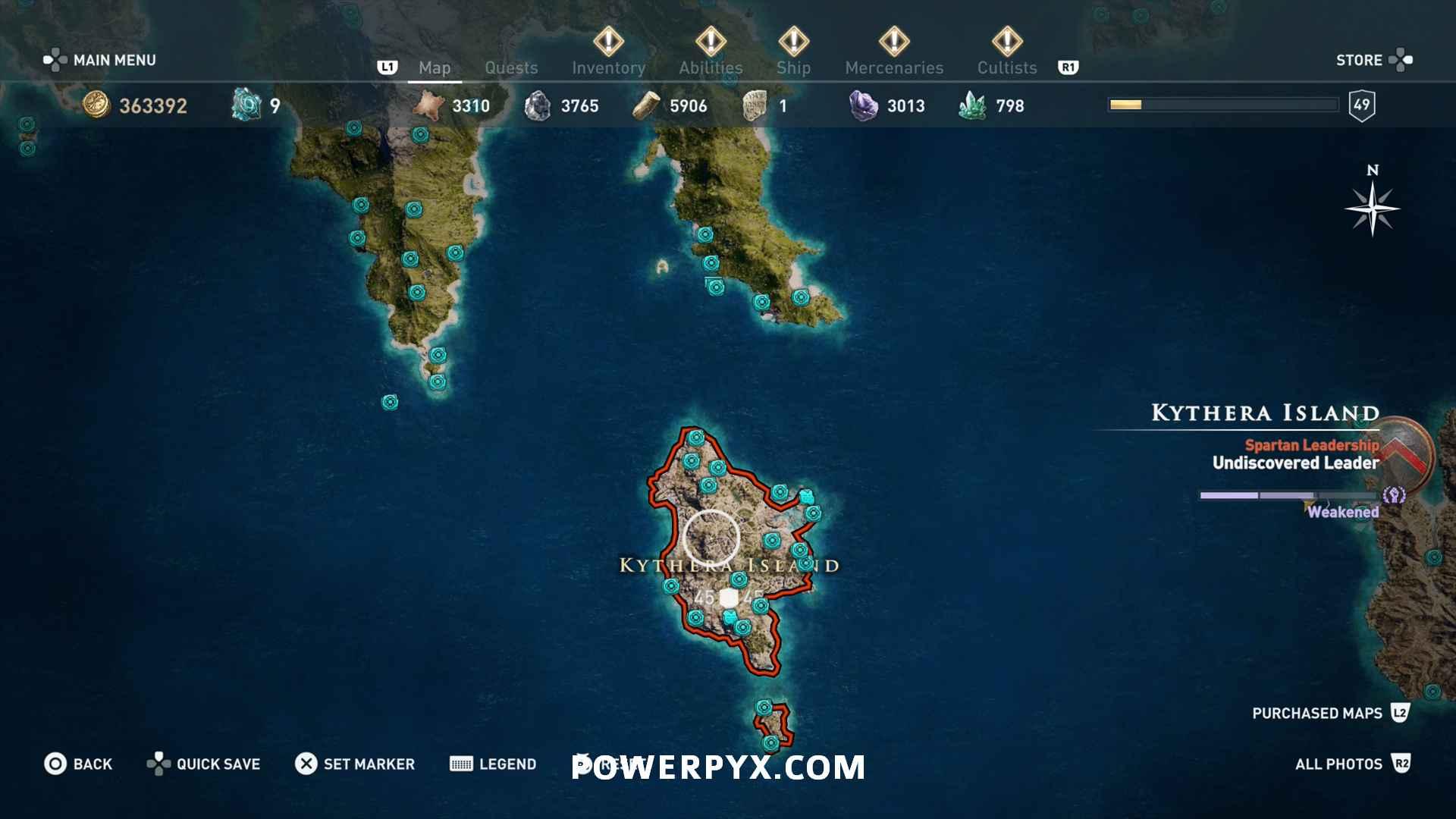 Assassin's Creed Odyssey Orichalcum Fragment Locations Map