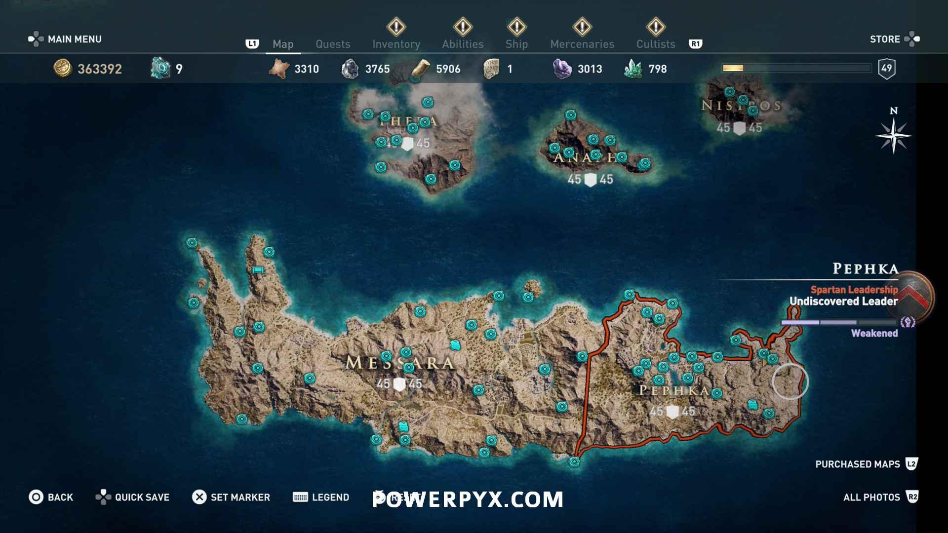 Assassins Creed Odyssey Orichalcum Fragments Map Pephka Fragment Locations