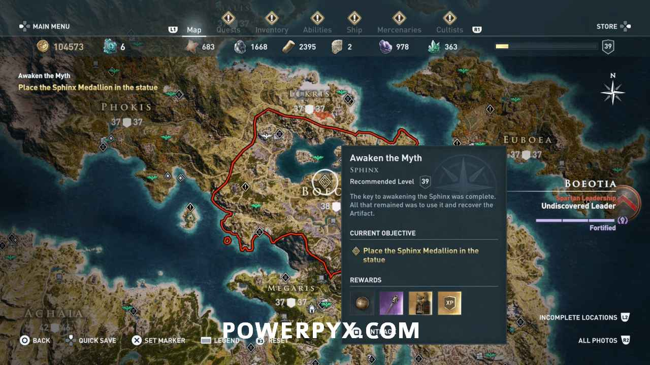 assassins creed odyssey sphinx