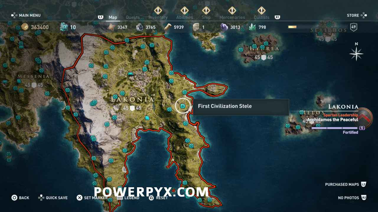 Assassin S Creed Odyssey Karte.Assassin S Creed Odyssey Tomb Stele Locations Map Skill Points