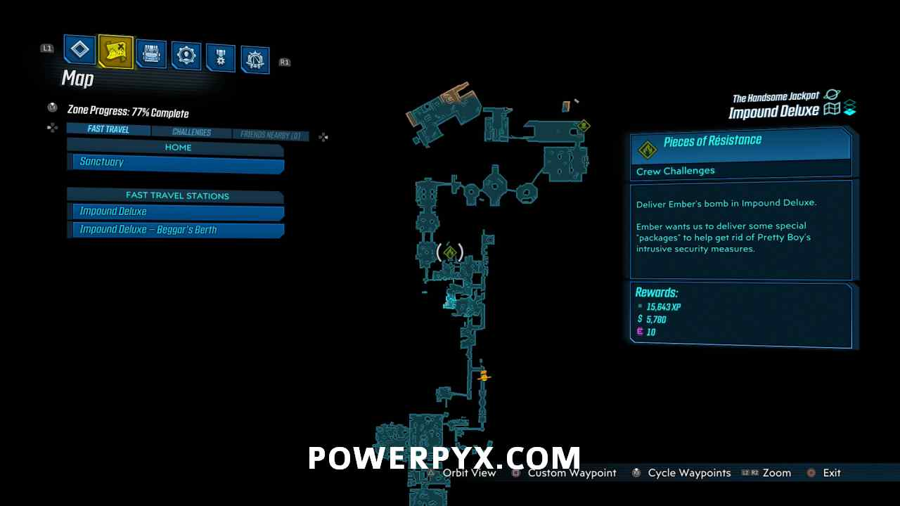 Borderlands 3 All Pieces Of Resistance Locations