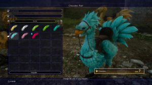 Final Fantasy XV How to Change Chocobo Color