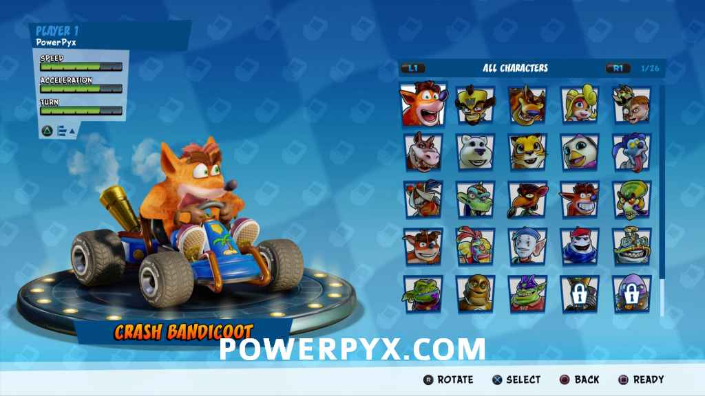 Crash Team Racing Nitro-Fueled All Characters (PS4, Xbox