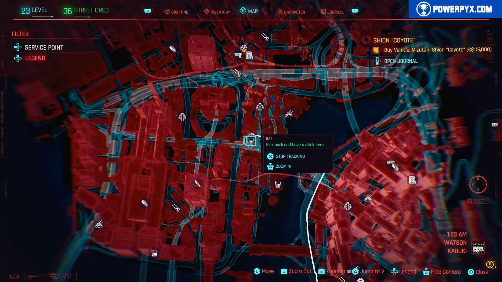 Cyberpunk 2077 All Bar Locations