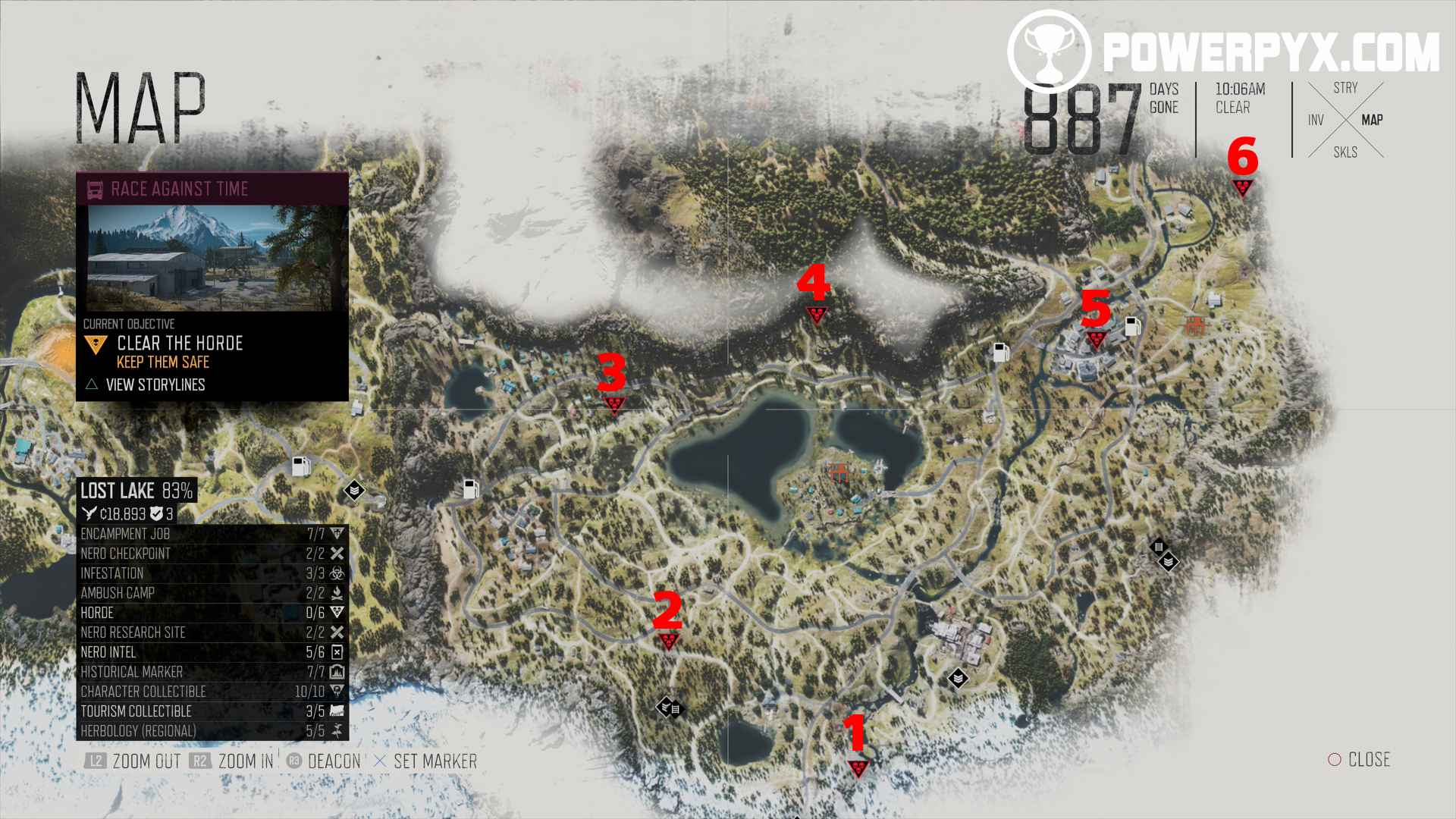 Days Gone All Horde Locations