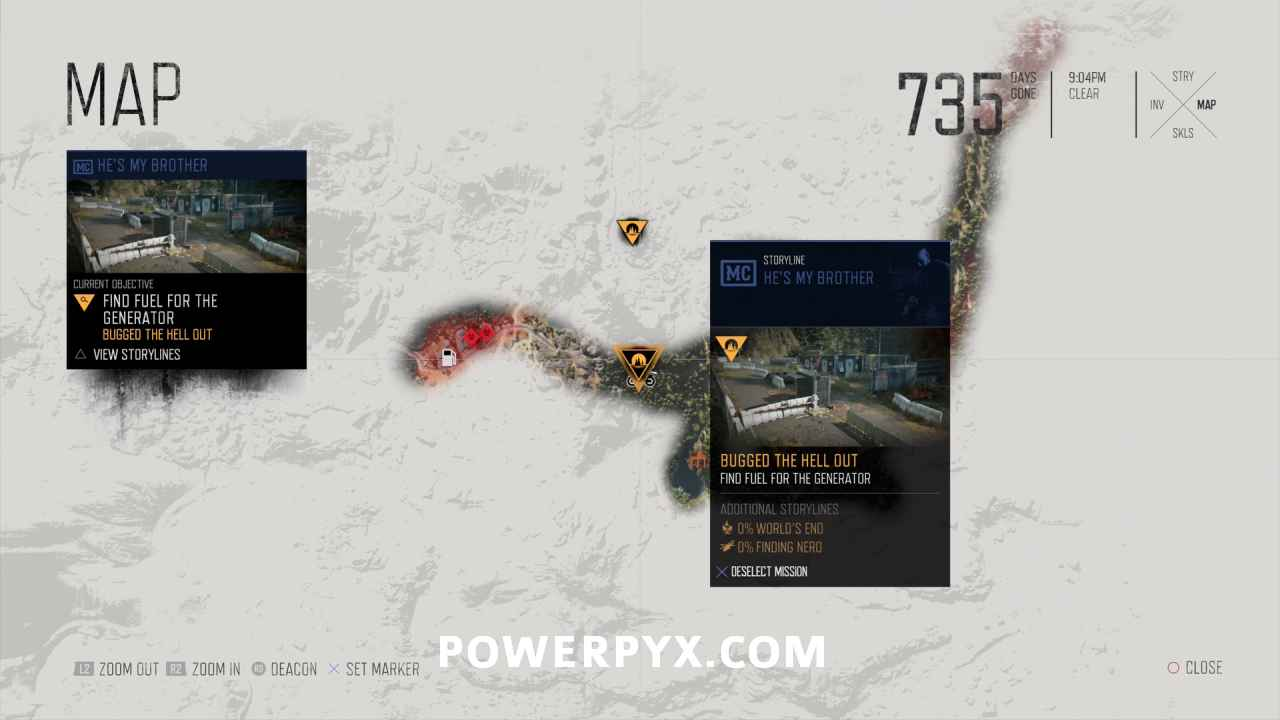 Days Gone All Nero Checkpoint Locations