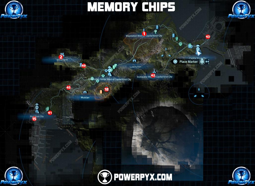 death stranding memory chips map 1 - Death Stranding: Guida completa ai chip di memoria