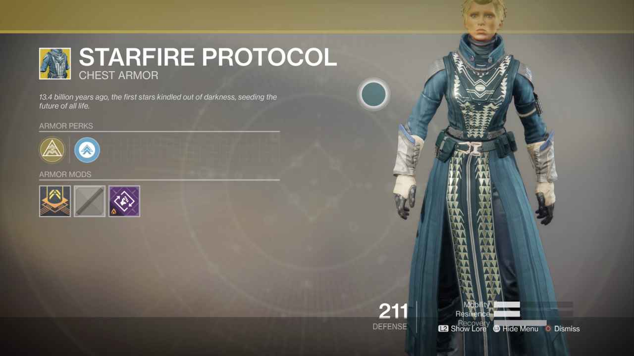 Destiny 2 Exotic Gear: Starfire Protocol (Warlock Chest Armor)