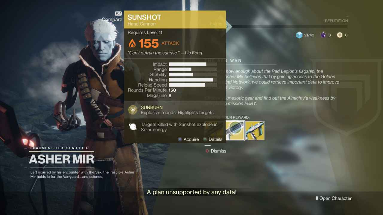 Destiny 2 Exotic Gear: Sunshot (Energy Weapon)
