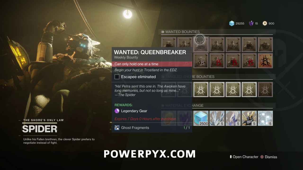 Destiny 2 Queenbreaker Bounty Location