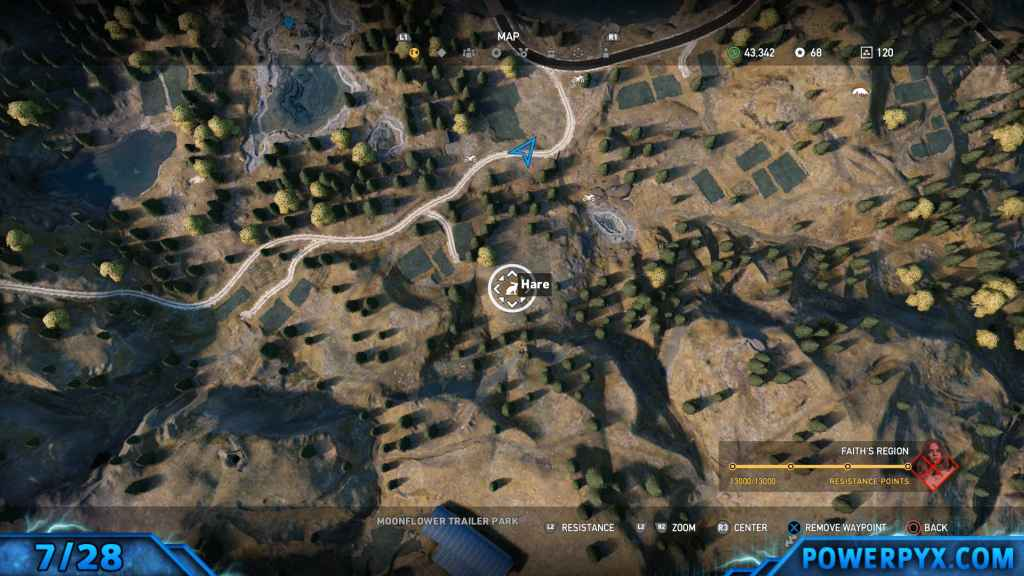 Far cry 5 all animals fish locations hunting spots hard fishing alternative hare location the hare is by far the trickiest animal to find and many players have reported problems getting one to spawn at hunting spots gumiabroncs Gallery
