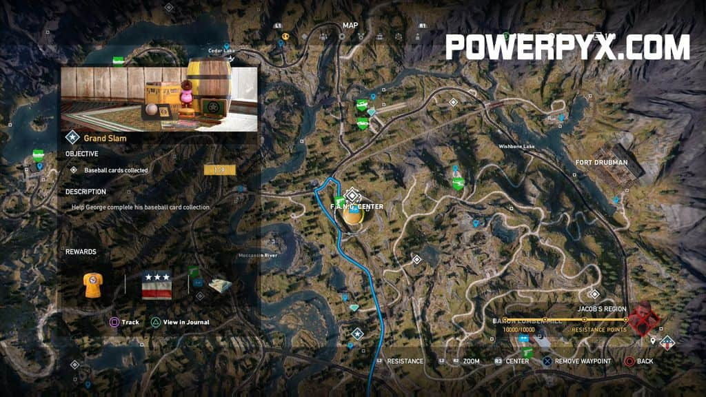 Far Cry 5 - All Baseball Cards Locations