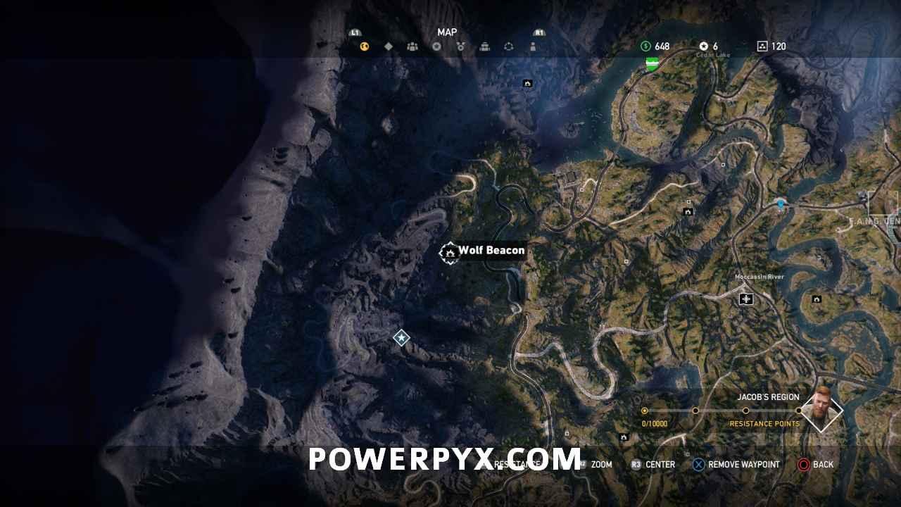 Far Cry 5 Wolfsköder Karte.Far Cry 5 All Wolf Beacon Locations Cult Properties
