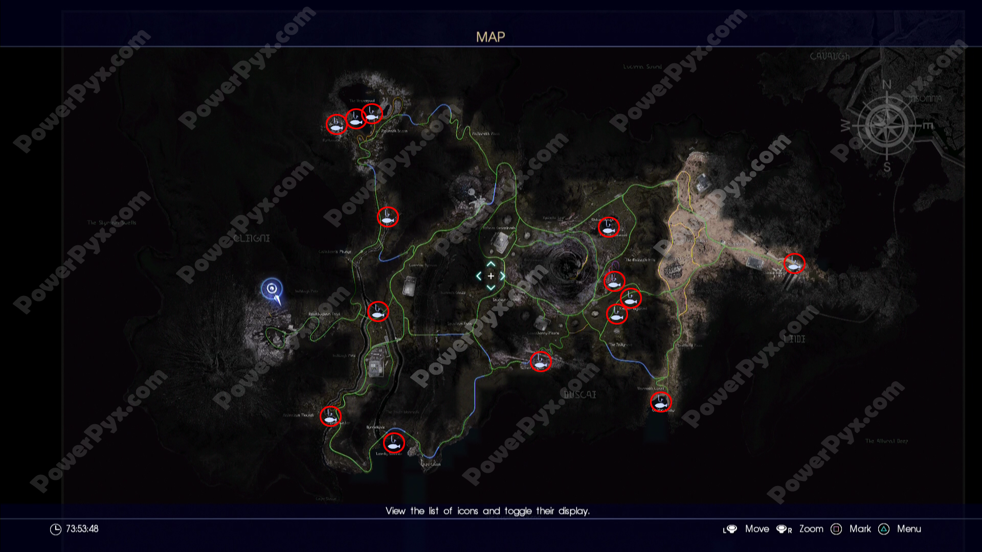 final fantasy xv all fishing hole locations