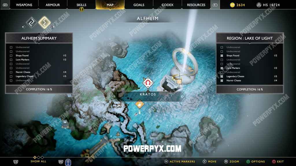 God Of War Runic Armor Set Location Alfheim