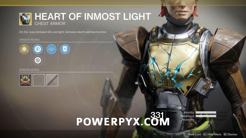 Destiny 2 Forsaken Exotic: Heart of Inmost Light (Titan