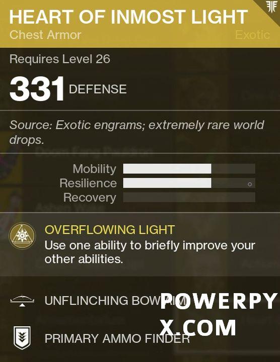 Destiny 2 Forsaken Exotic: Heart of Inmost Light (Titan Chest Armor)