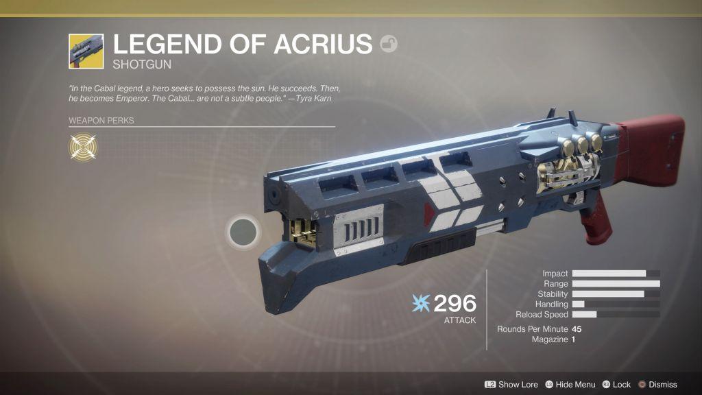 Destiny 2 How to Get Legend of Acrius Exotic Shotgun
