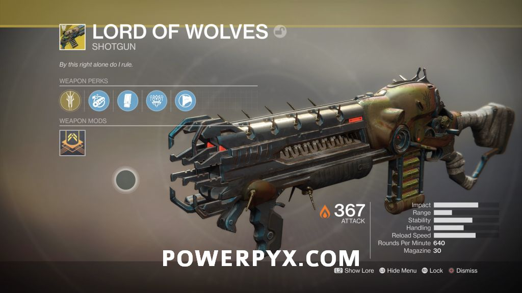 Destiny 2 Forsaken Exotic: Lord of Wolves (Shotgun)