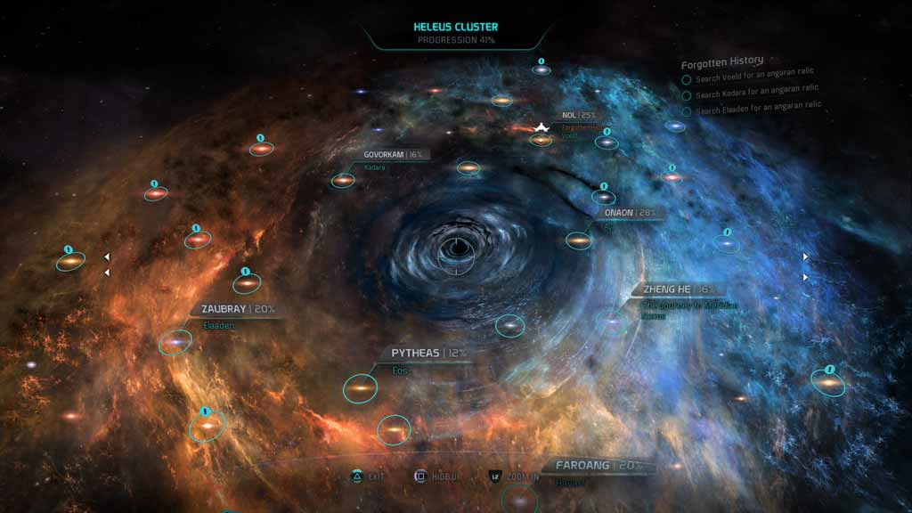 Mass Effect Andromeda Star Map.Mass Effect Andromeda Review