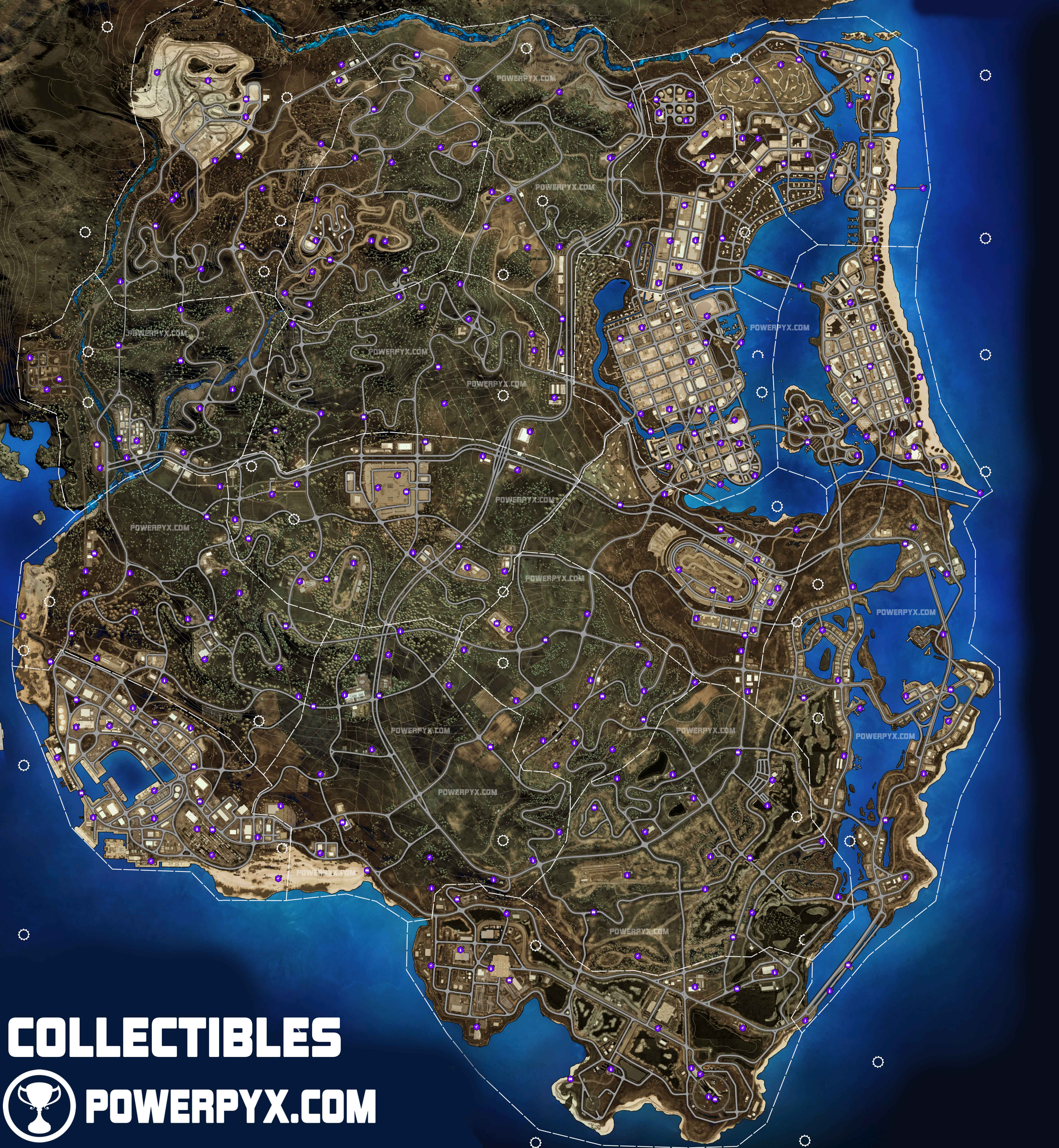 Need For Speed Heat Collectible Activity Locations Map