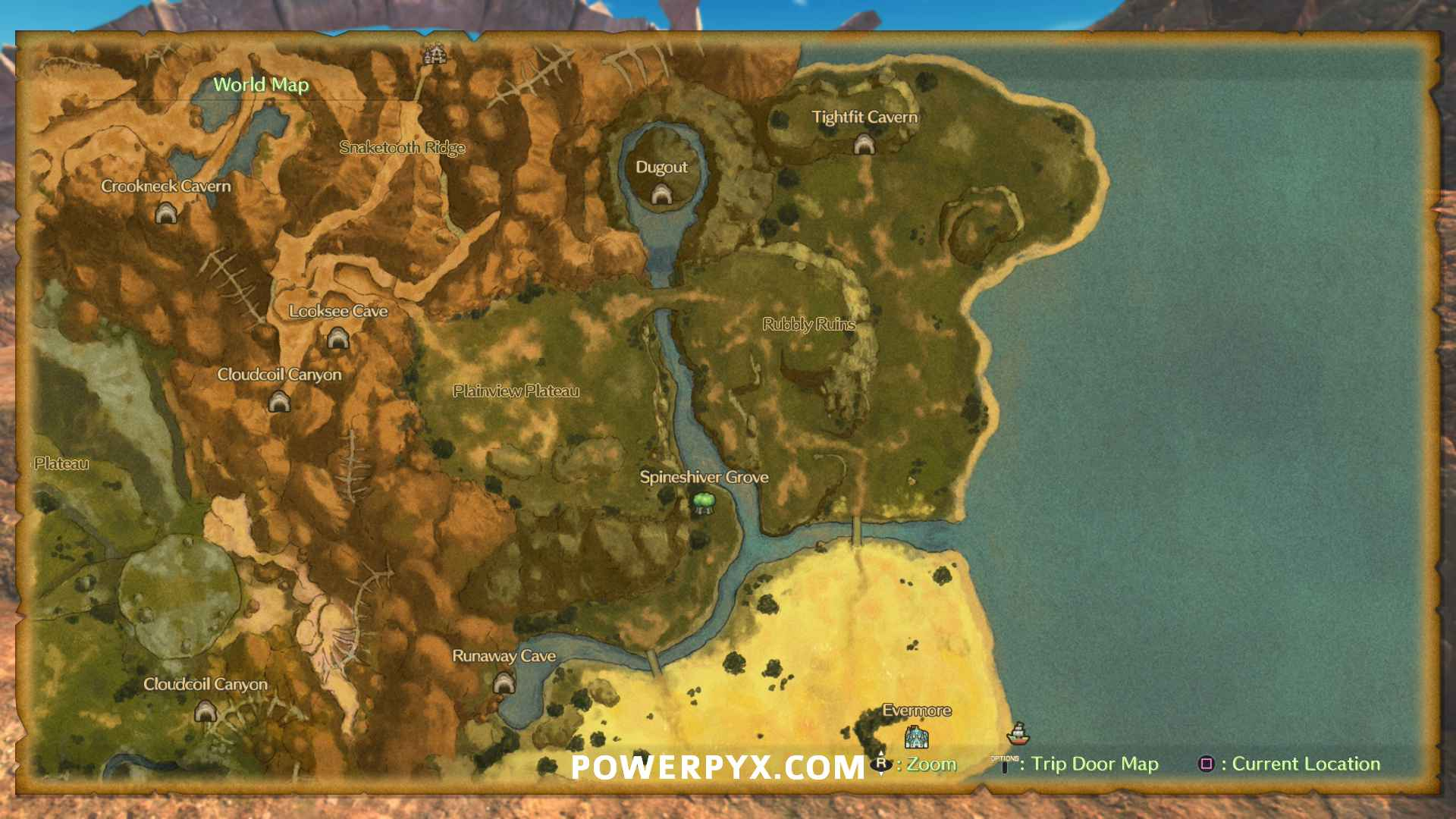 Ni No Kuni 2 Map All Locations Areas Woods Caves Shops