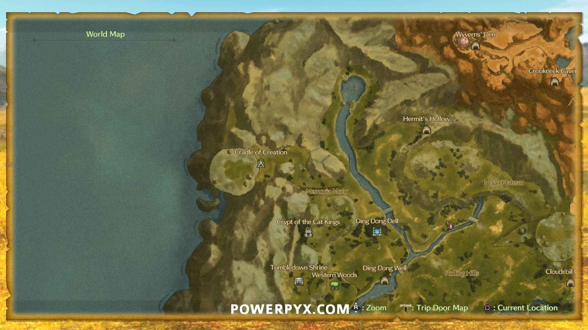 Old Man S Cave General Store Hours : Ni no kuni map all locations areas woods caves shops