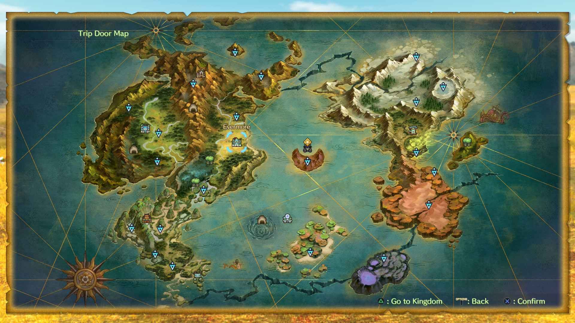 Ni No Kuni 2 Map   All Locations, Areas, Woods, Caves, Shops