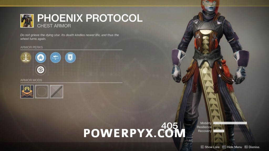 Destiny 2 Forsaken Exotic: Phoenix Protocol (Warlock Chest