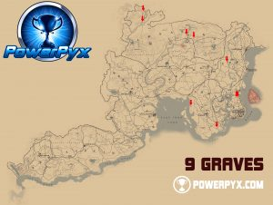 Red Dead 2 World Map.Red Dead Redemption 2 All Grave Locations