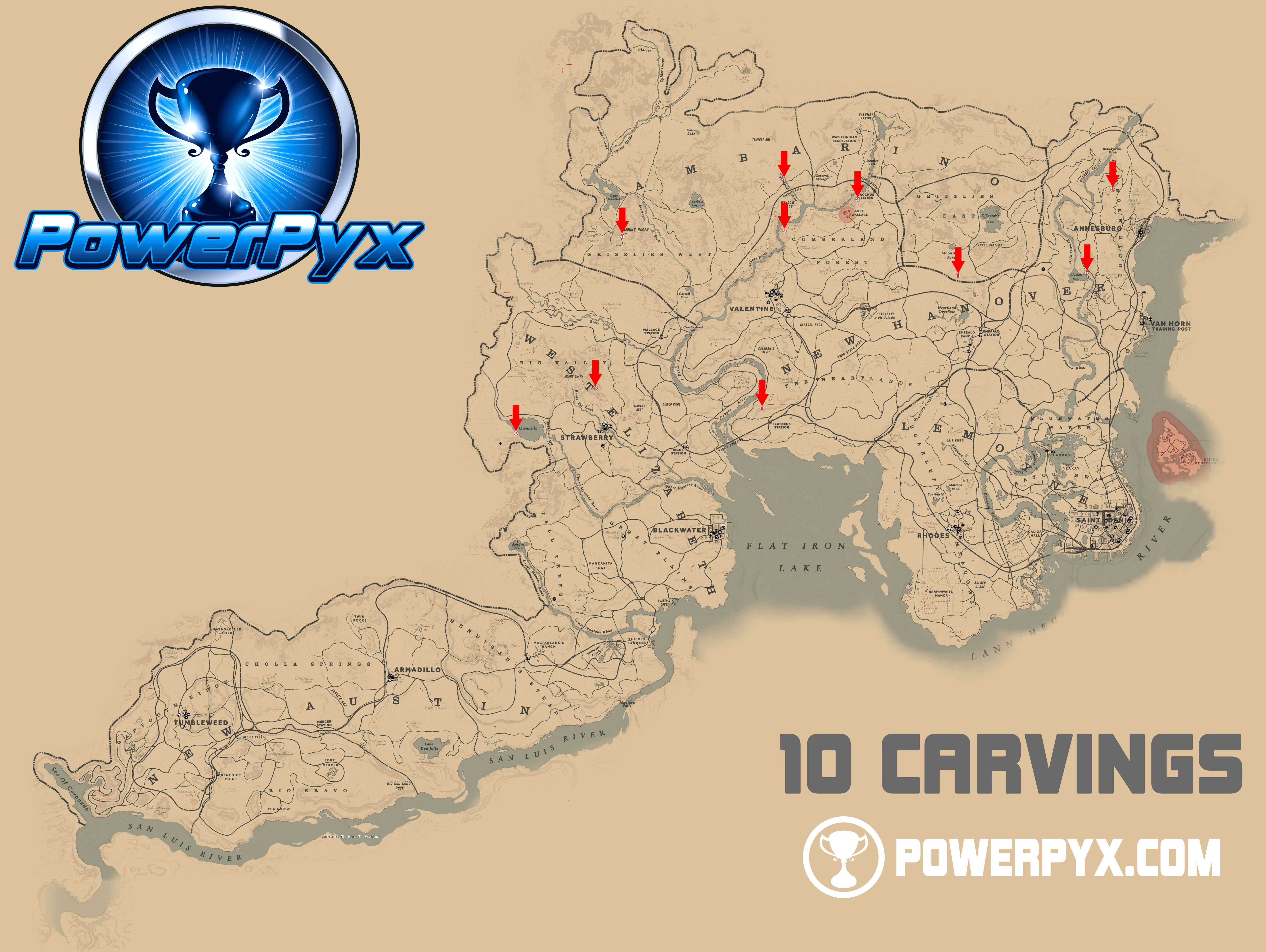 Red Dead Redemption 2 World Map.Red Dead Redemption 2 All Rock Carving Locations